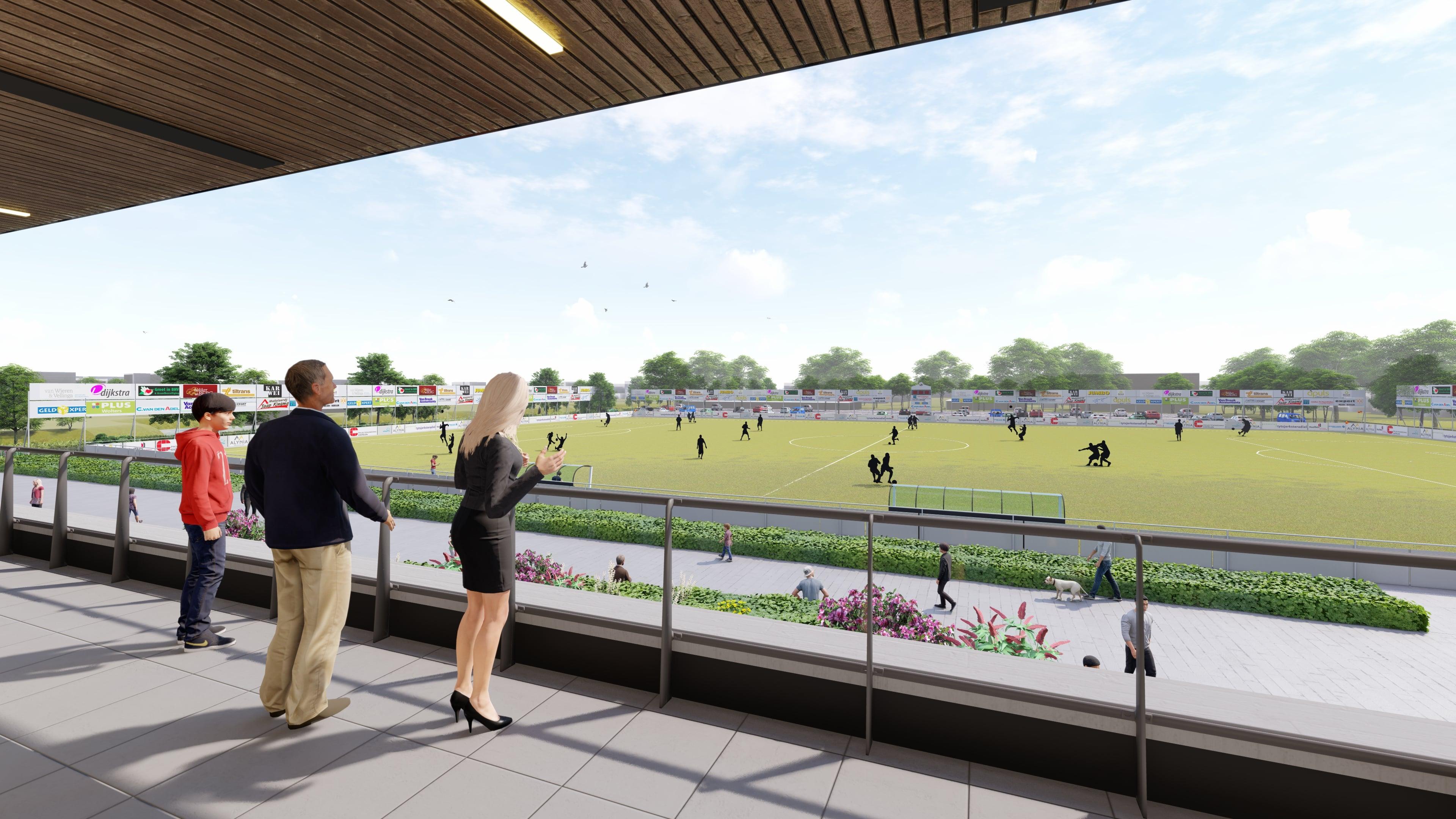 Sponsors FC Burgum goed zichtbaar op ons nieuwe sportpark