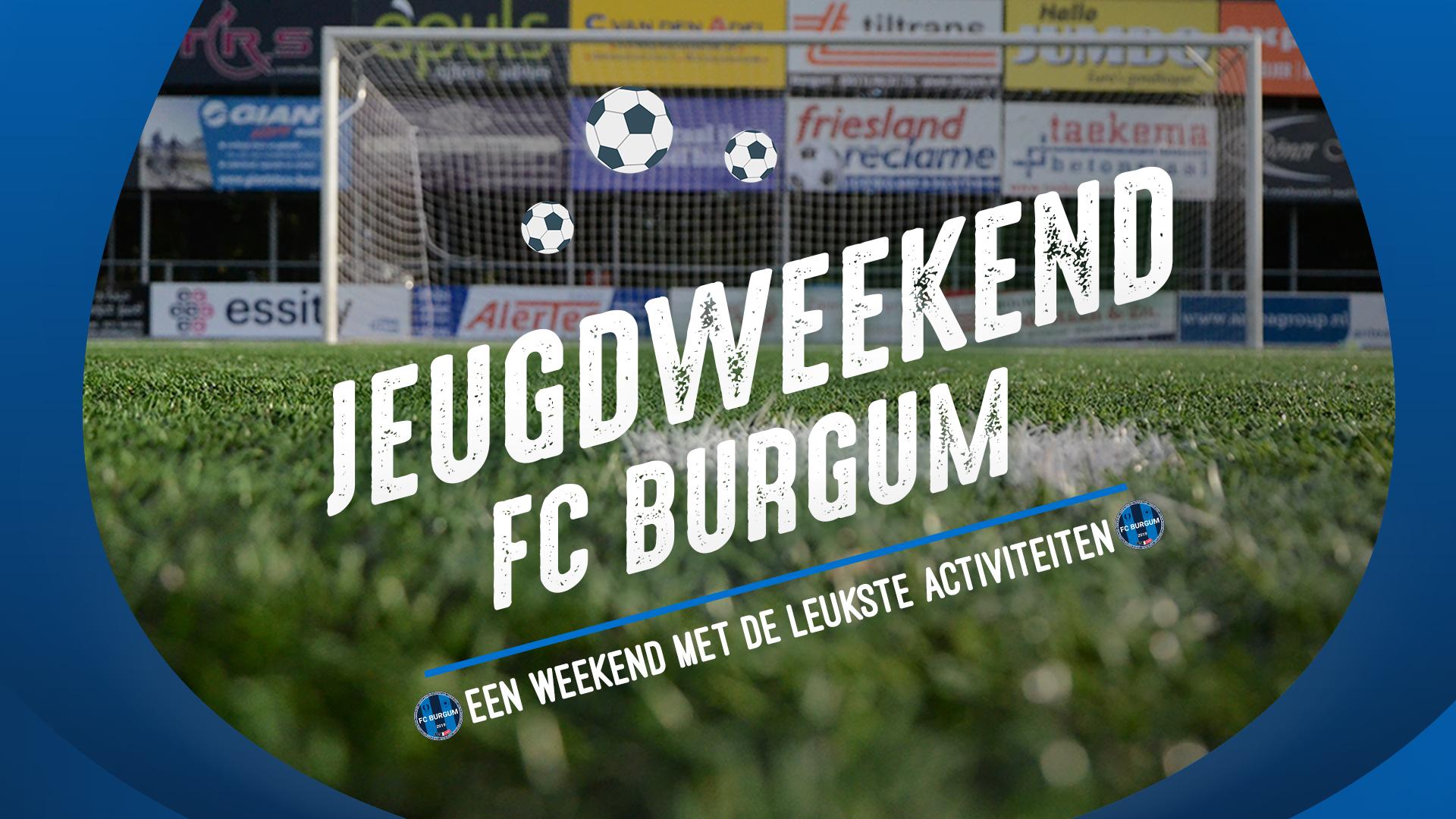 Jeugdweekend op 8 en 9 augustus bij FC Burgum