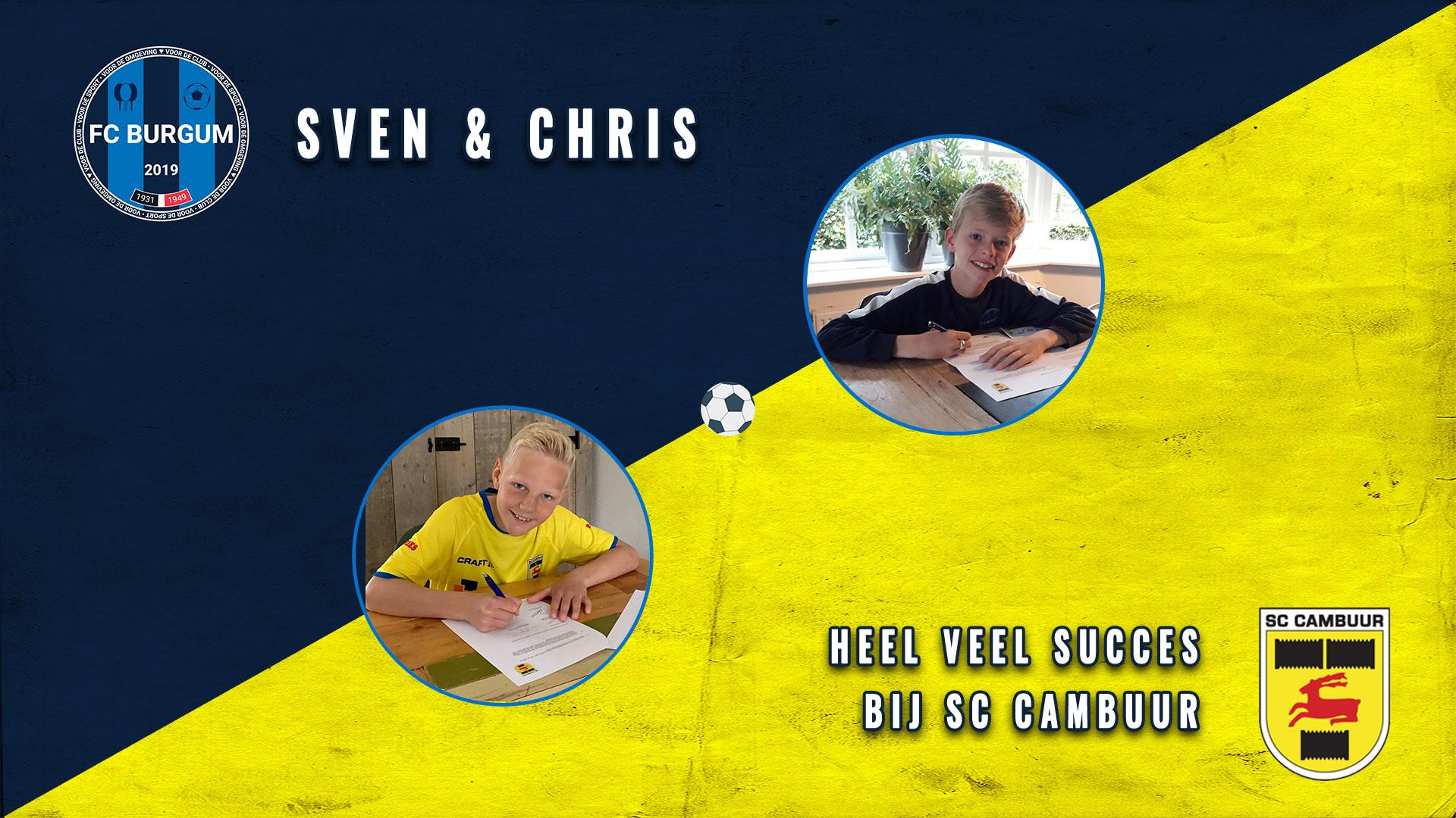 Sven en Chris maken de overstap naar de jeugdopleiding van SC Cambuur