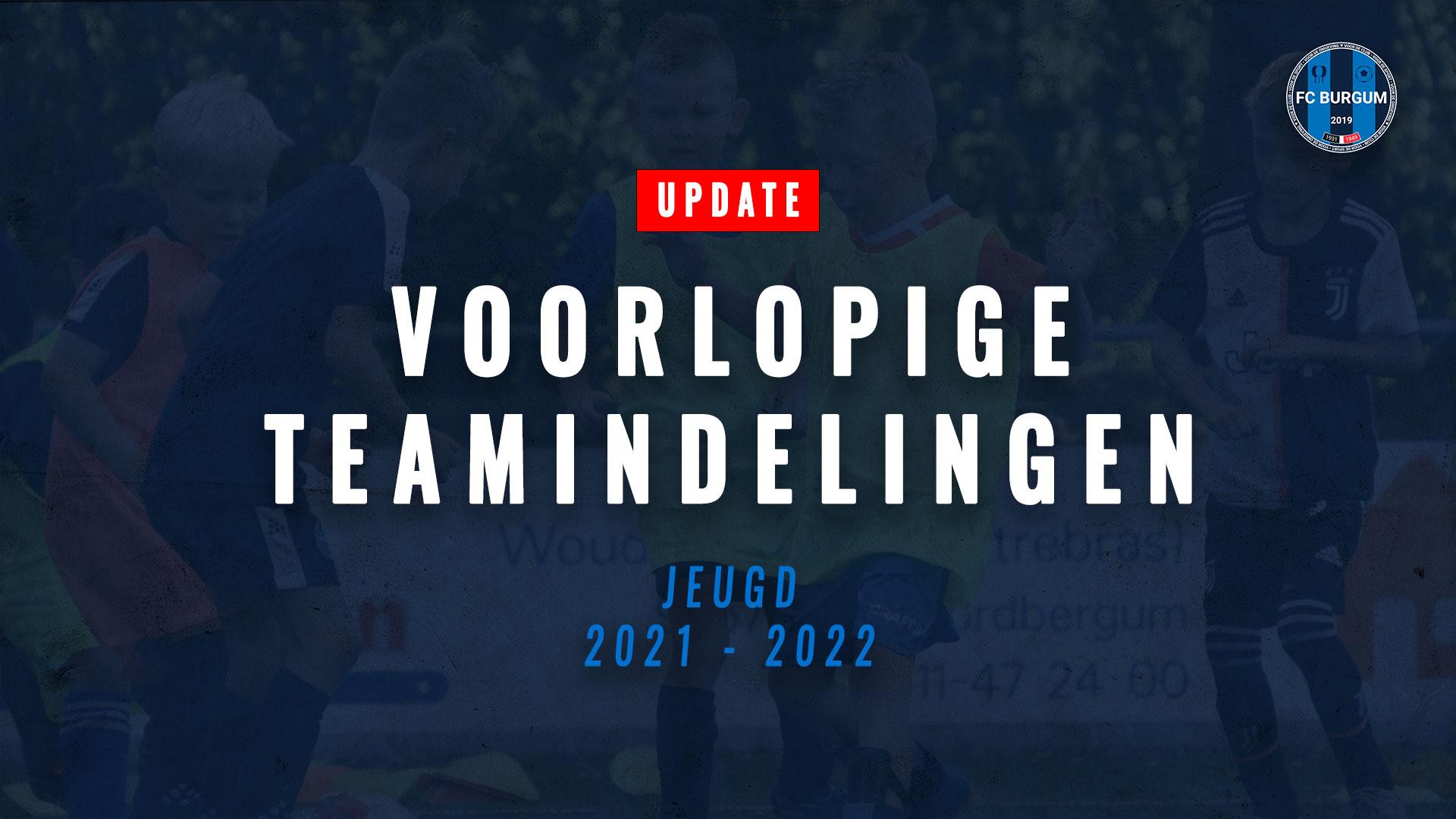 UDPATE: Voorlopige teamindelingen jeugdteams 2021-2022
