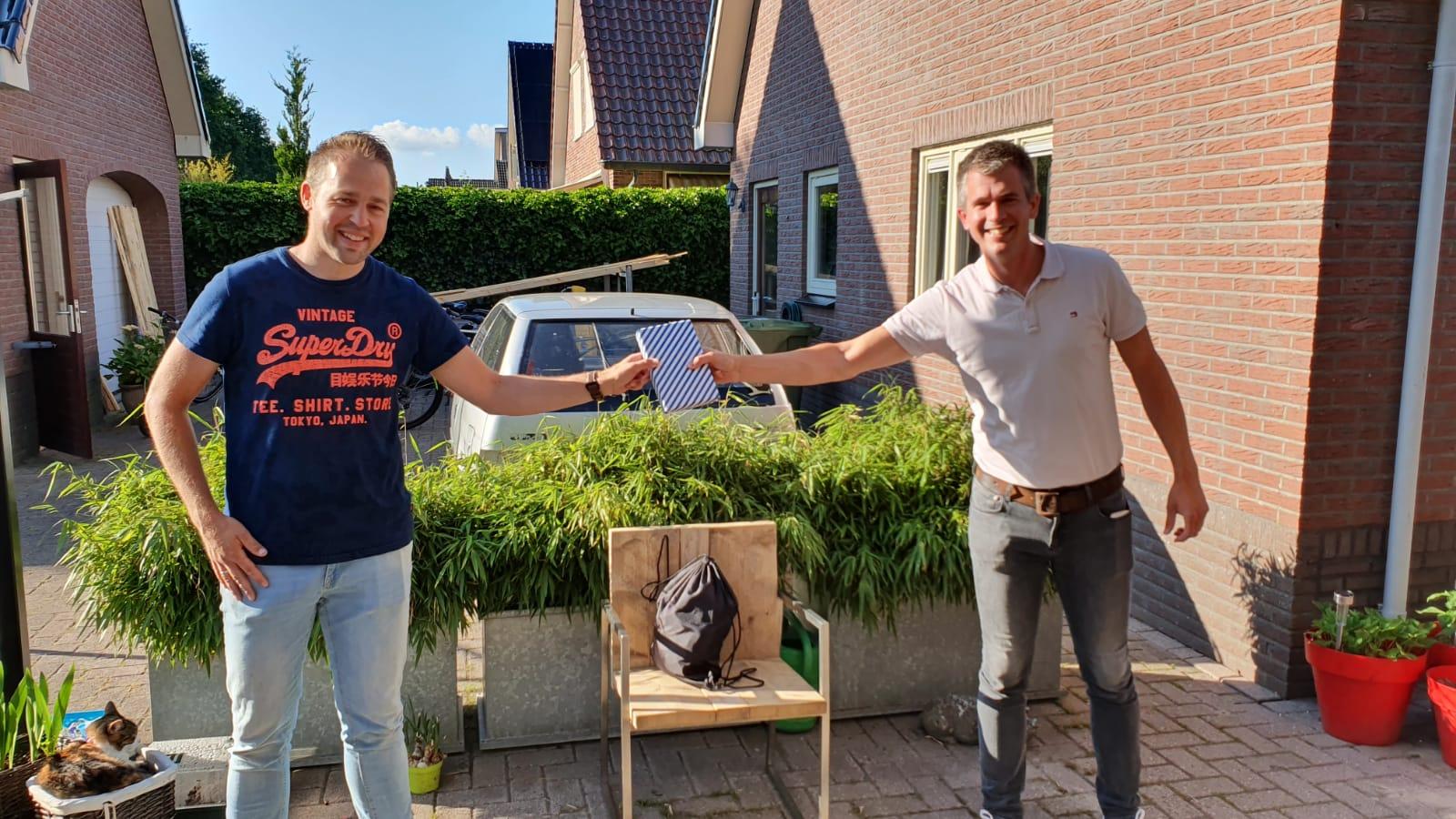 Anne van der Wal bedankt voor zijn inzet