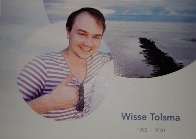 Minuut stilte als eerbetoon aan Wisse Tolsma