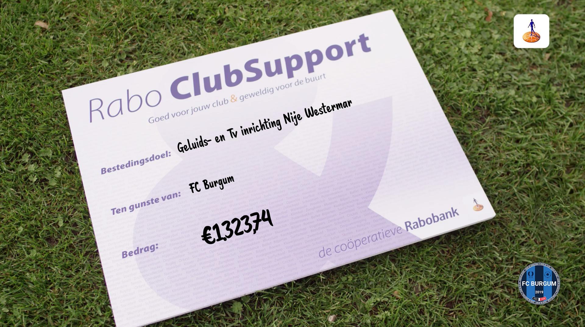 De uitslag van Rabo ClubSupport!