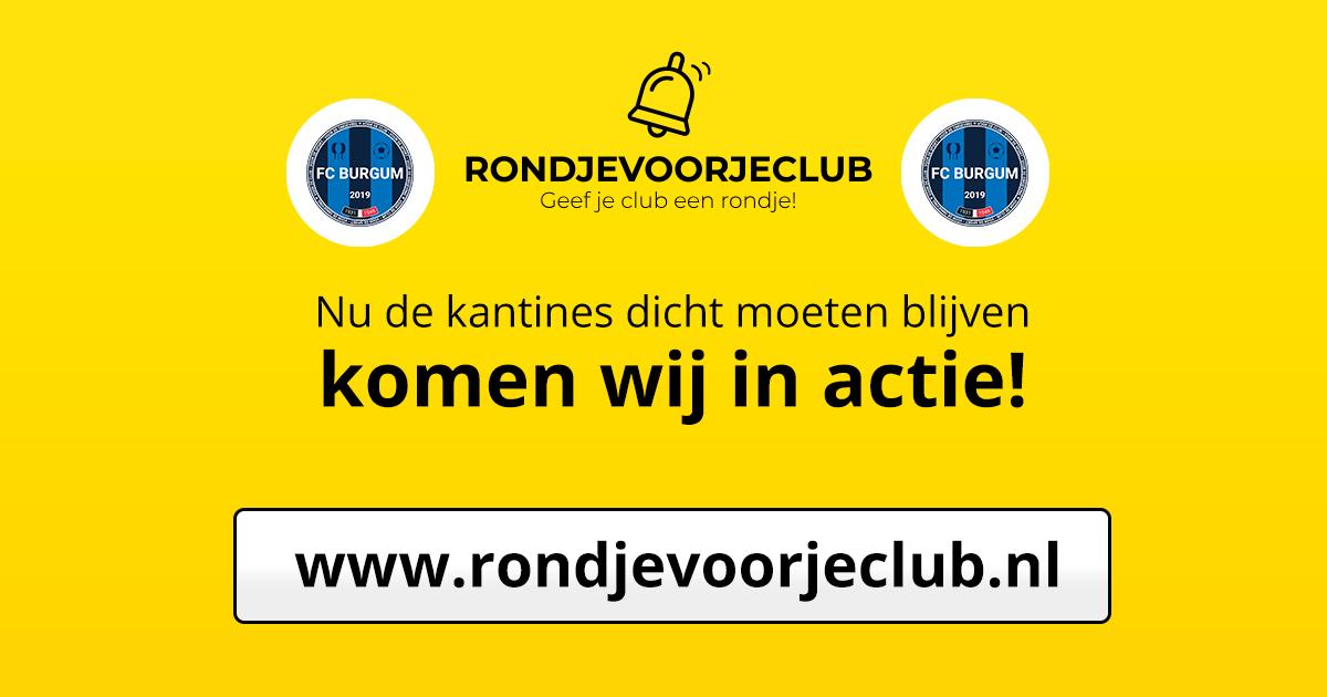 Tussenstand van de Actie 'Geef je club een rondje!'