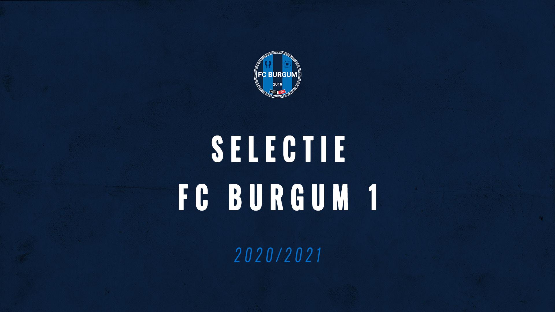 Selectie FC Burgum 1 voor 2020/2021