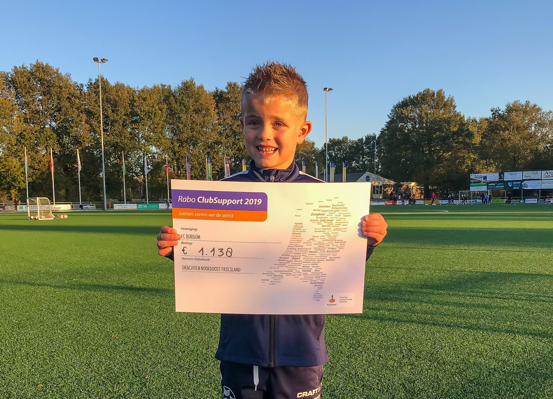 Rabo ClubSupport levert FC Burgum 1138 euro op!