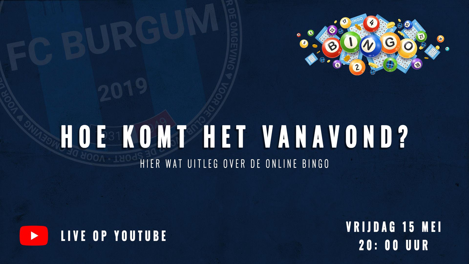 Hoe komt het precies vanavond met de online bingo?