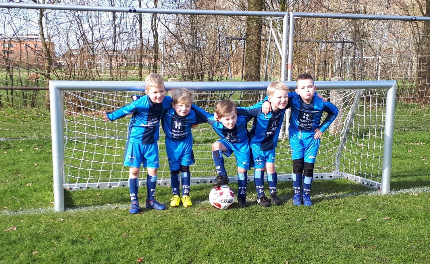 FC Burgum JO7 begint de competitie met vier overwinningen