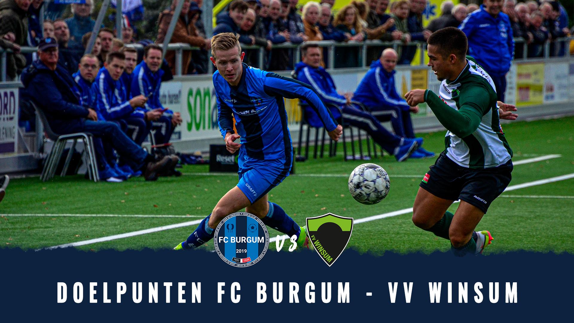 🎥 Doelpunten FC Burgum - VV Winsum