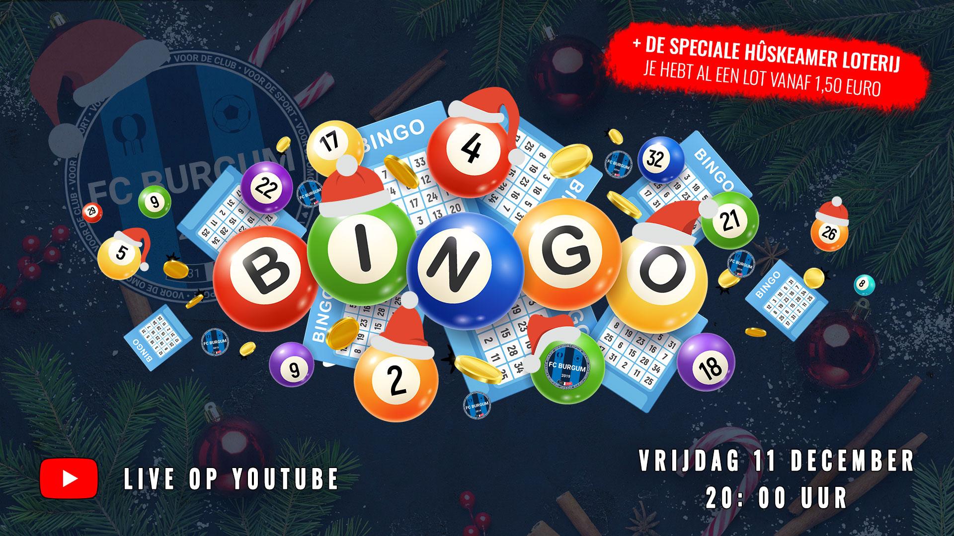 Vrijdag 11 december - Kerstbingo en Hûskeamer loterij!